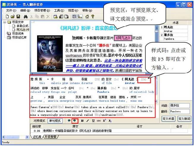 雪人计算机辅助翻译(CAT) 中文-英语版截图1