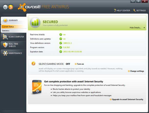 Avast! Free Antivirus截图1