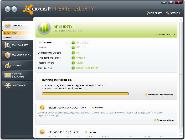 Avast! Internet Security BETA截图1