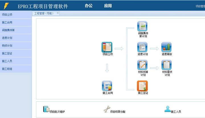 建筑施工管理软件-工程项目管理软件 施工版截图1