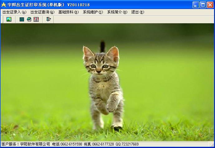 宇阳出生医学证明打印软件截图2