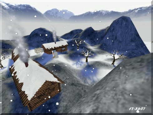 Winter In Mountains 3D Screensaver截图1