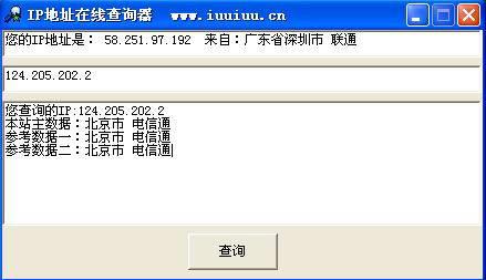 IP地址在线查询器截图1