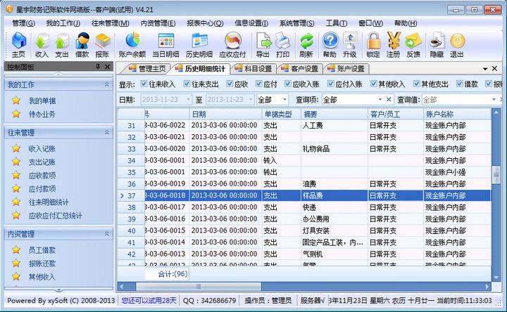 星宇财务记账软件网络版截图1