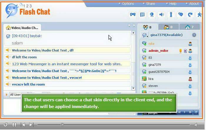 123 Flash Chat Software for Mac截图1