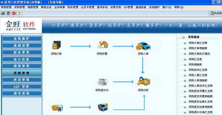 企旺医药管理软件截图1