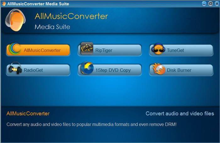 AllMusicConverter Media Suite截图1