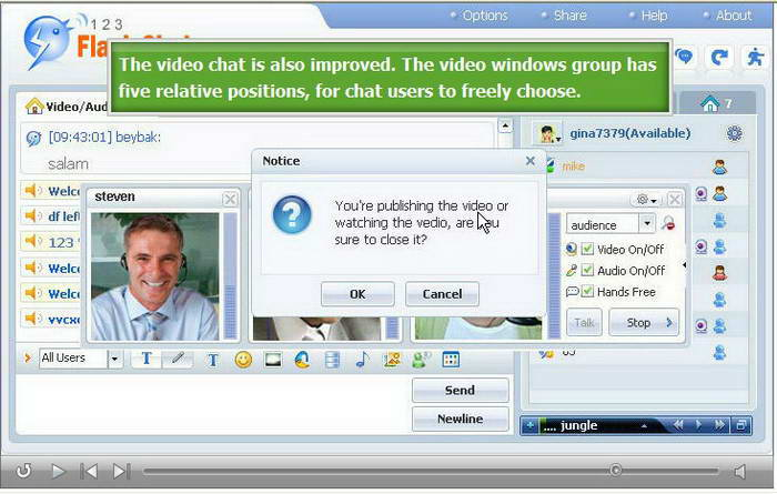 123 Flash Chat Software