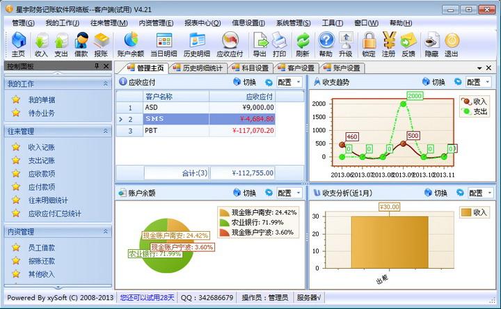 星宇财务记账软件网络版截图2