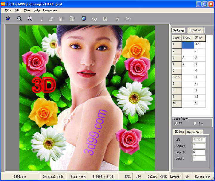 ok3d  psdto3d99立体画设计软件截图2