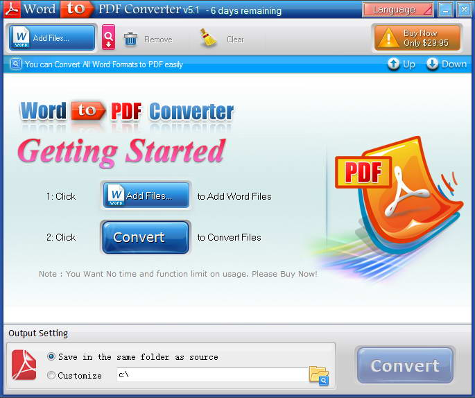 Word转换成PDF格式截图1