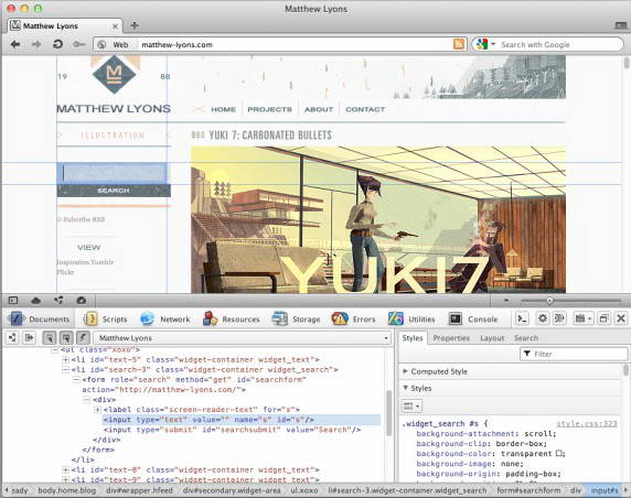 Opera Dragonfly For linux截图1