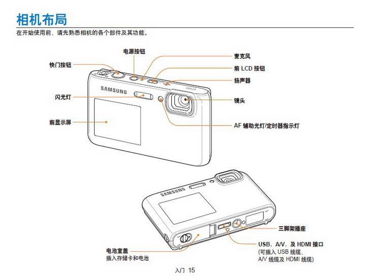 三星ST100数码相机使用说明书