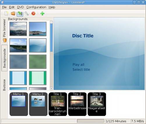 DVDStyler For Linux截图1