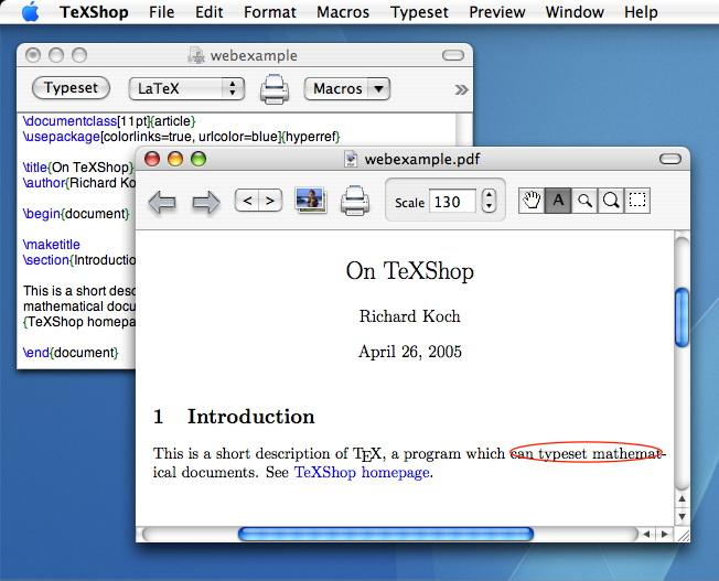 TeXShop For MAC截图1