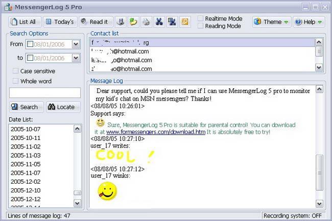 MessengerLog360 Pro截图1