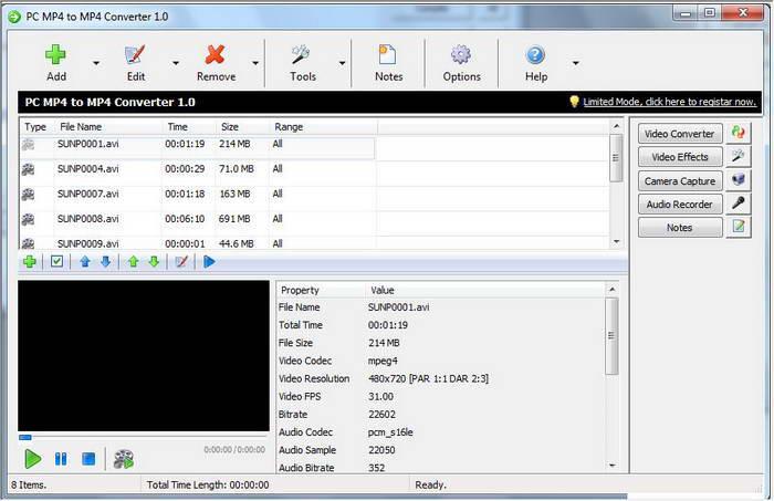PC MP4 to MP4 Converter截图1