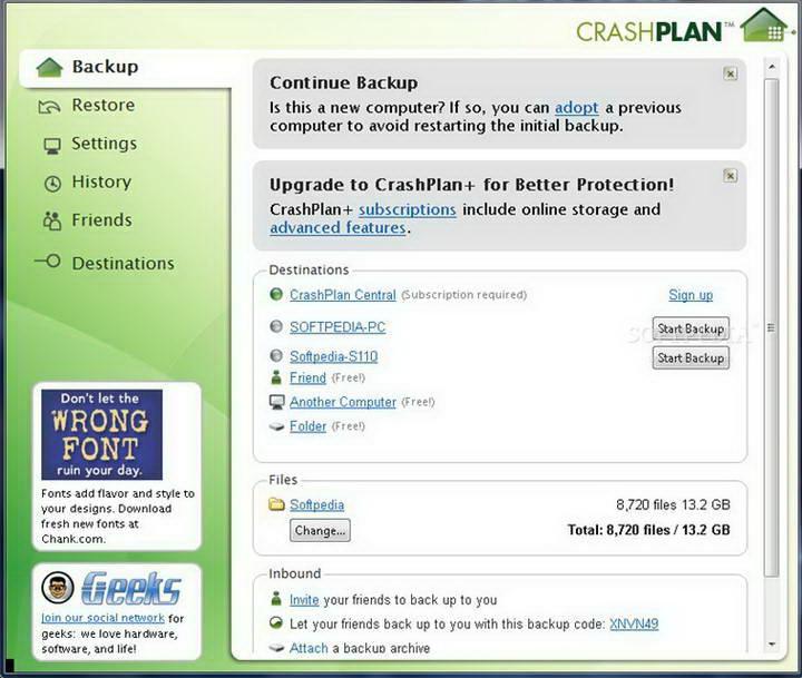 CrashPlan For Linux截图1