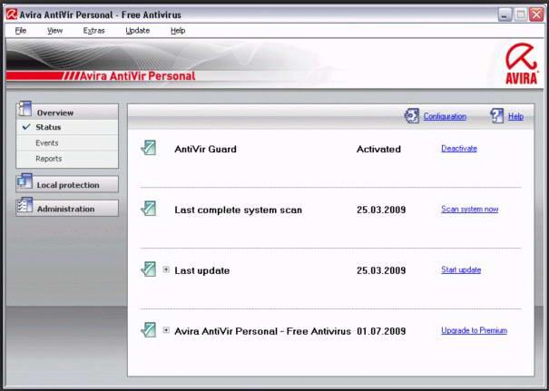 Avira Free Antivirus 小红伞免费中文版截图1
