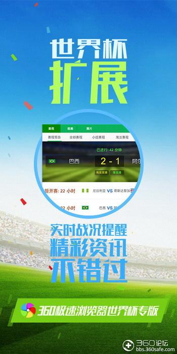360极速浏览器 世界杯专版截图1