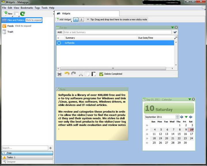 Makagiga For Linux截图1