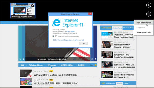 IE11浏览器(Internet Explorer 11)截图1
