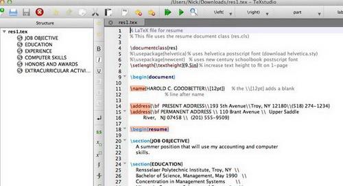 TeXstudio For Debian 7.0截图1
