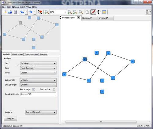 Visone 可视化社会网络分析软件截图1