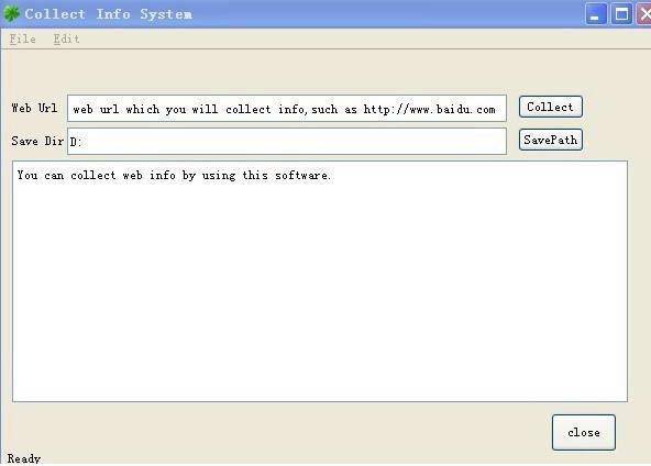 心宽网页采集系统截图1