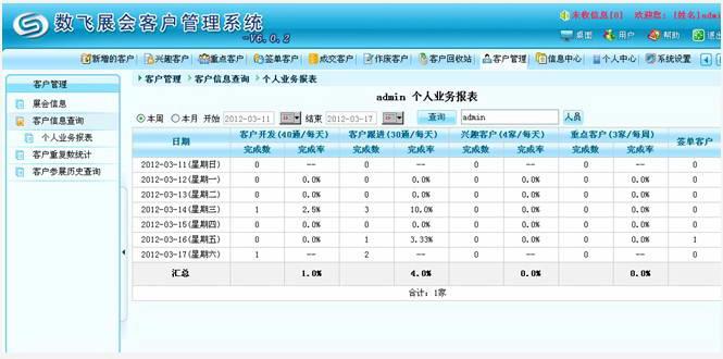 数飞展会客户管理系统截图1