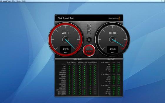 Blackmagic Disk Speed Test For Mac截图1