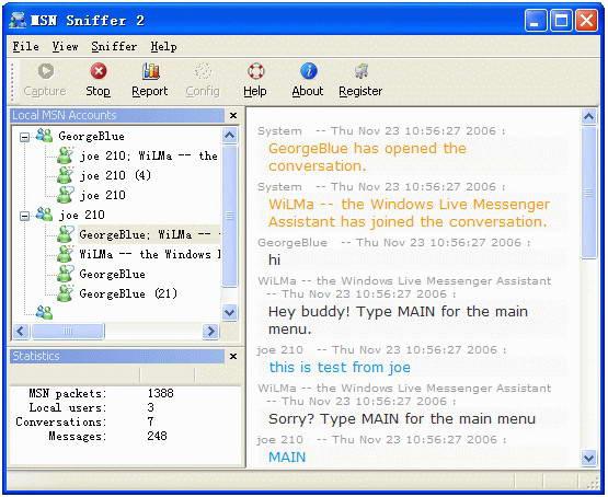 MSN Sniffer截图1
