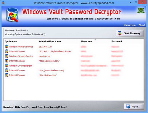 Windows Vault Password Decryptor截图1