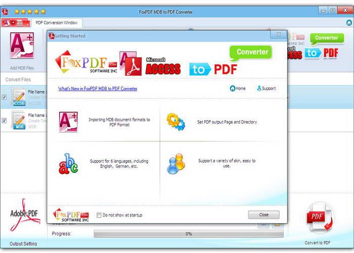 Access MDB 转换成PDF转换器截图1