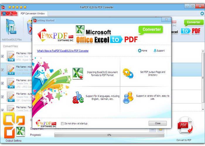 Excel XLSX转换成PDF转换器截图1