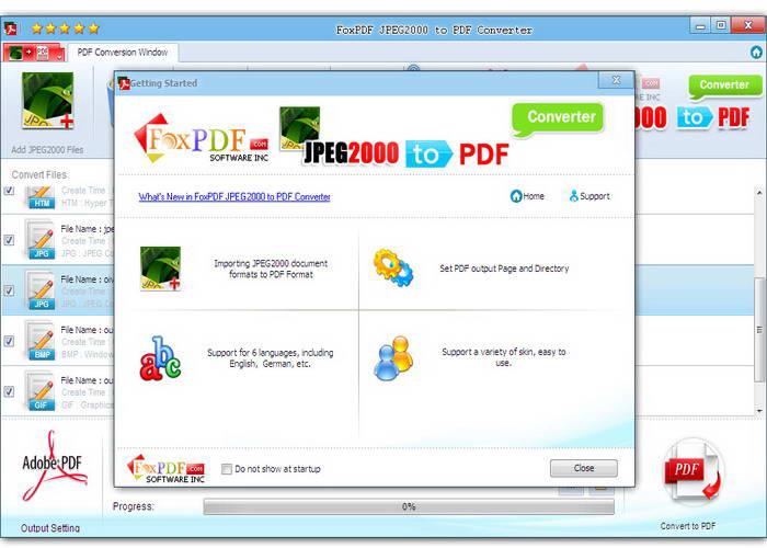 JPEG2000转换成PDF转换器截图1
