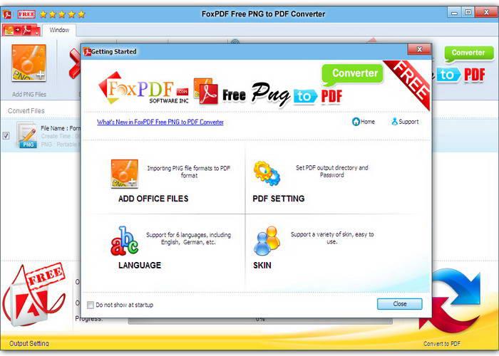免费PNG转换到PDF转换器截图1