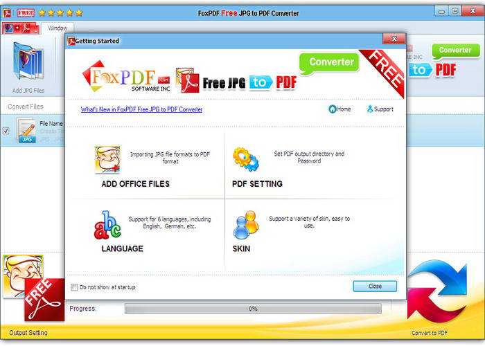 免费JPG转换到PDF转换器截图1