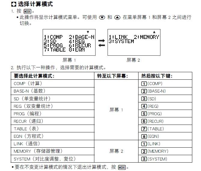 卡西欧fx-5800P计算器说明书截图1