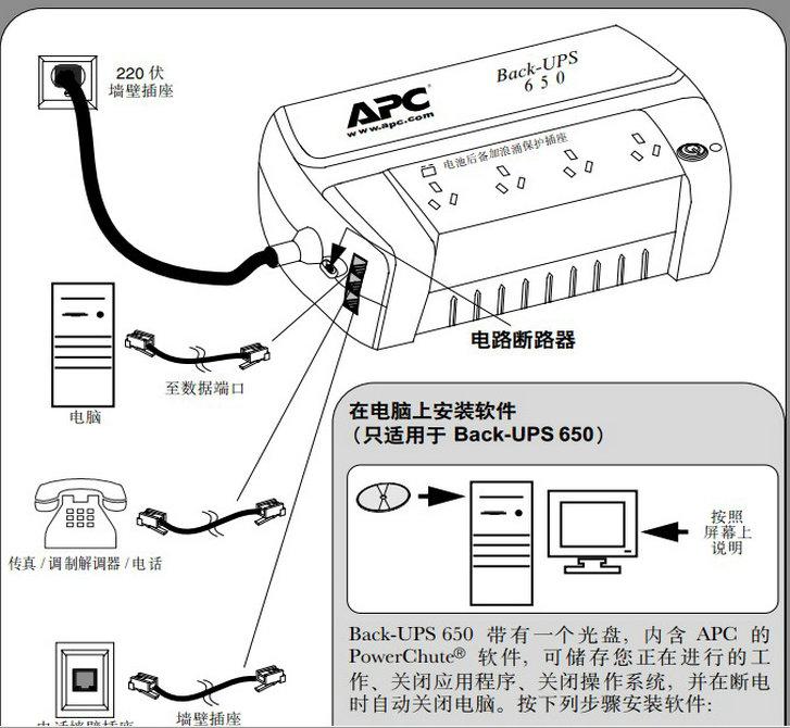 APC BK650-CH用户手册说明书