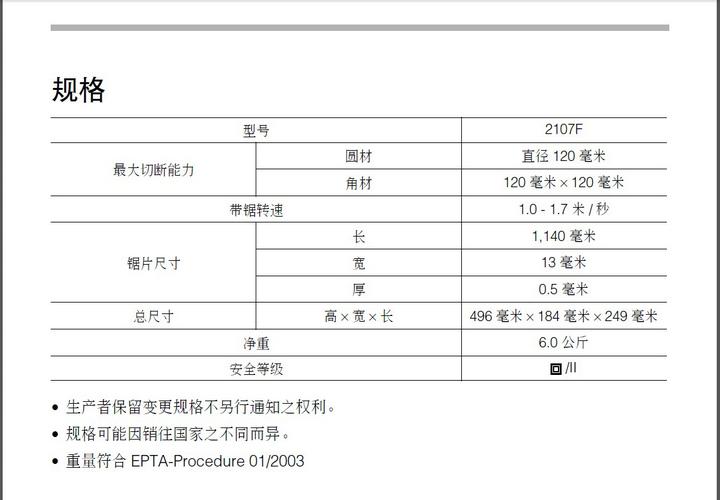 牧田轻便电锯2107F型使用说明书截图1