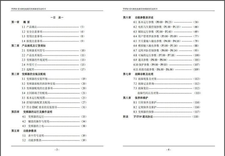天正TVFS9-4015G变频器使用说明书截图1