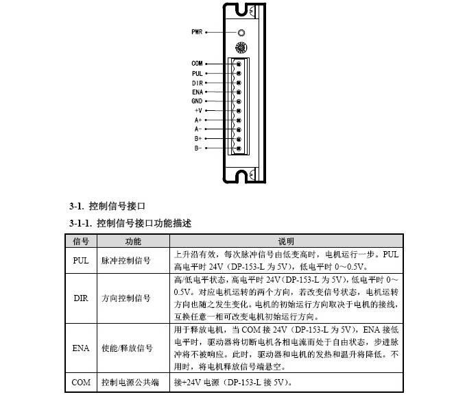 DP-153-L步进驱动器使用手册
