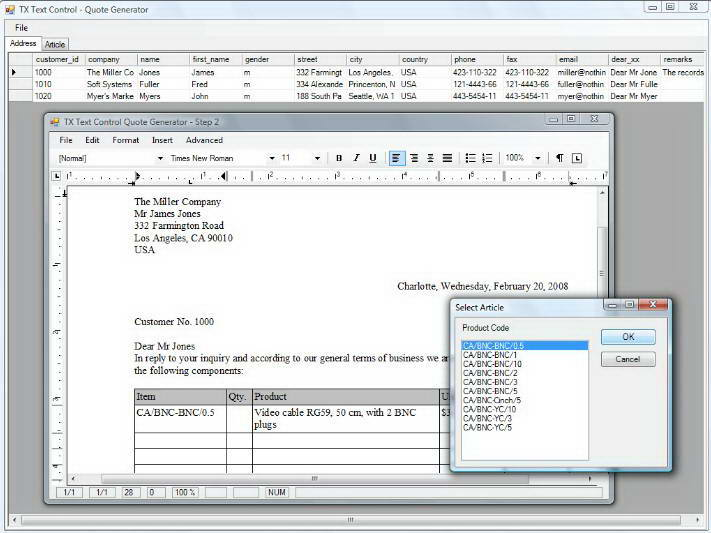 TX Text Control Server for ASP.NET (incl. WPF)