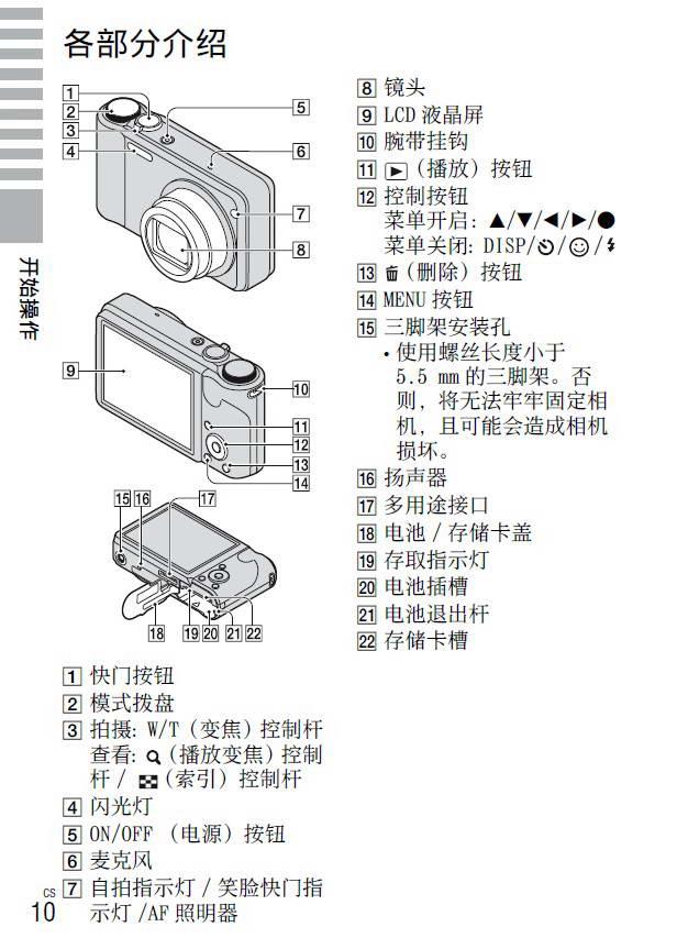 索尼DSC-H55数码相机使用说明书截图1