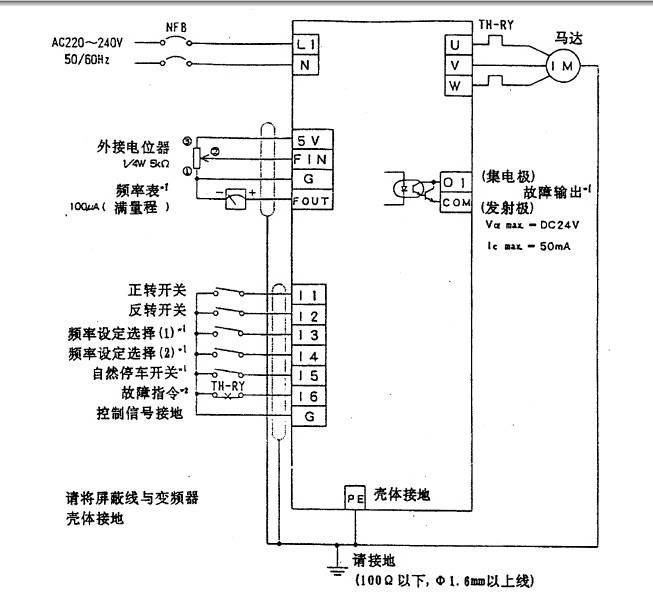 松下DV700T2200D1变频器说明书截图1
