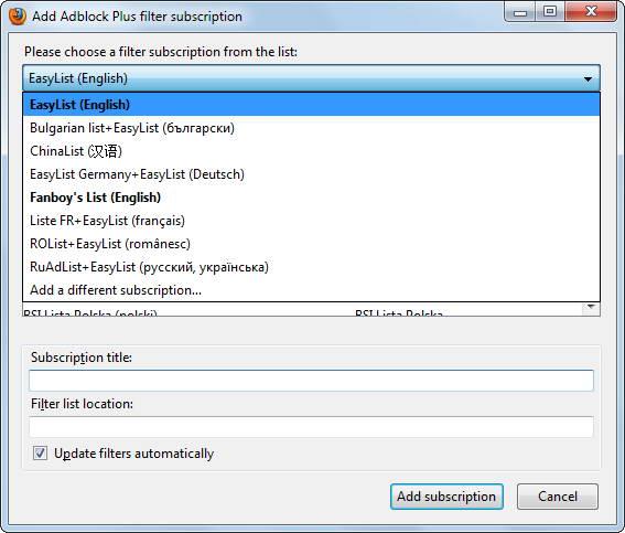 Adblock Plus for Firefox截图1