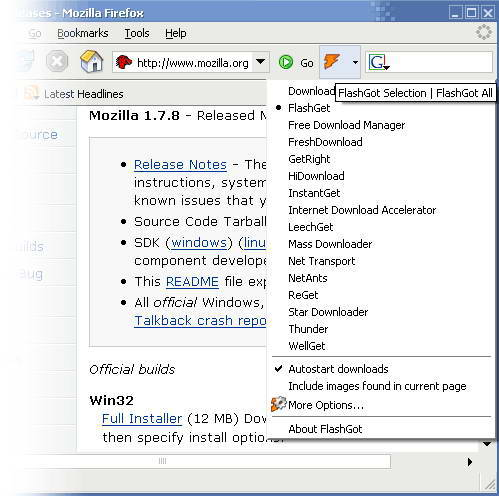FlashGot for Firefox截图1