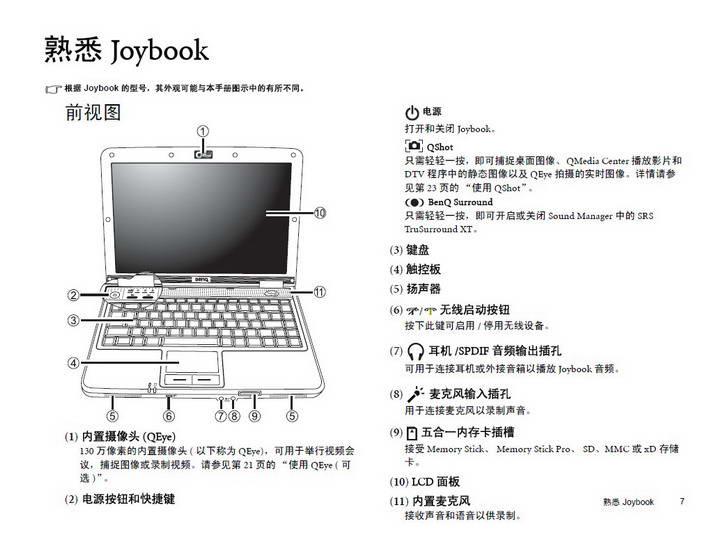 明基Joybook S31EW笔记本使用说明书截图1