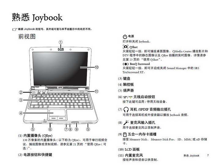明基Joybook S31VW笔记本使用说明书
